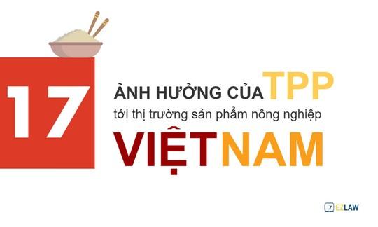 17 ảnh hưởng của TPP tới nông nghiệp Việt Nam