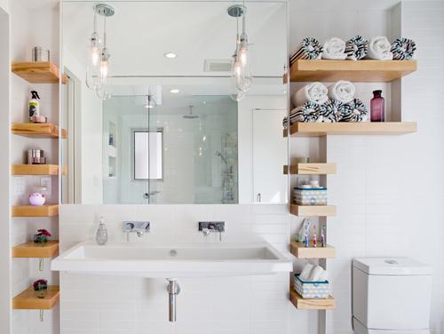 Bí quyết nhỏ giúp phòng tắm rộng đến ngỡ ngàng