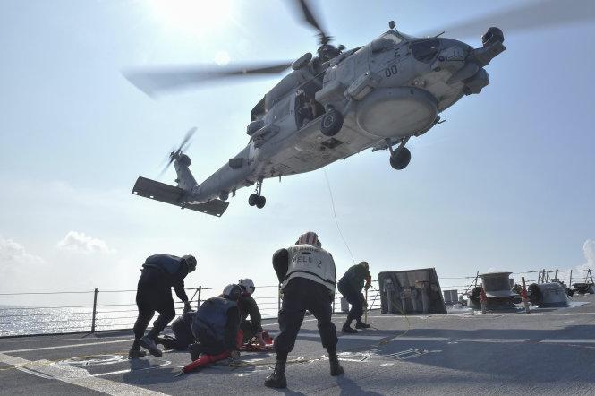 Hải quân Mỹ tuần tra trên biển, lợi ích cho cả ASEAN.