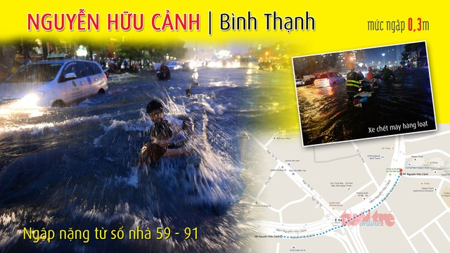 Đi đường Sài Gòn khi mưa lớn nhớ kỹ 66 điểm này
