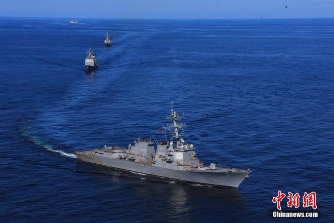Hải quân Mỹ - Trung lần đầu diễn tập chung ở Đại Tây Dương
