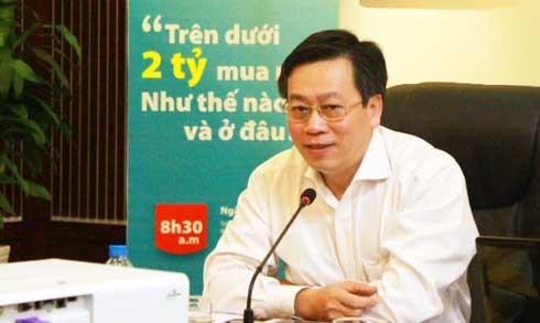 ong tran ngoc quang, tong thu ky hiep hoi bat dong san viet nam. (anh: kt).