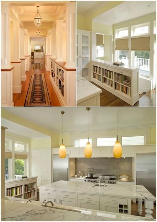 Những cách trang trí ngôi nhà bằng giá sách