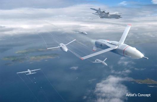 Mỹ phát triển phi đội máy bay robot thả từ trên không
