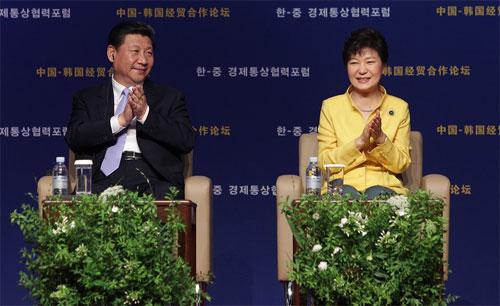 Dự duyệt binh, Tổng thống Hàn gia tăng quan hệ với Trung Quốc