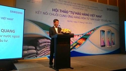 """Nâng hàng Việt Nam lên chất lượng thế giới, Samsung muốn làm """"DN quốc dân Việt Nam"""""""