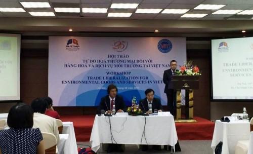 Đẩy mạnh quá trình tự do hóa thương mại đối với hàng hóa và dịch vụ môi trường