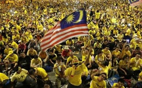 nhung nguoi bieu tinh chong chinh phu malaysia. (anh:bbc)
