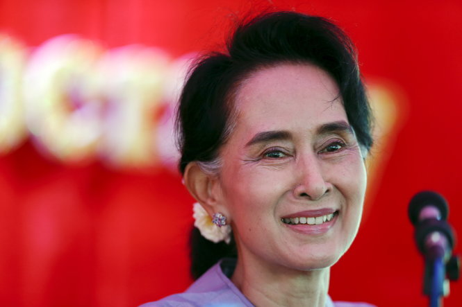 ba aung san suu kyi len lich nam 2016 o myanmar - anh: reuters