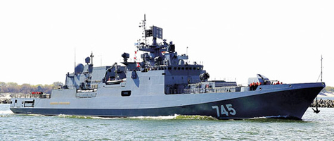 frigate do doc grigorovich, tau dau tien cua lop projekt 11356р/м la phuong tien mang ten lua kalibr-nk.