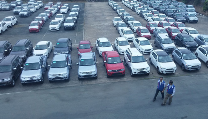 Chi 1,71 tỉ USD nhập hơn 64.000 xe hơi trong 7 tháng