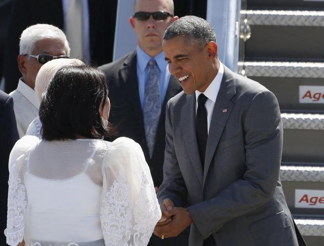 ong obama da den manila - anh: reuters