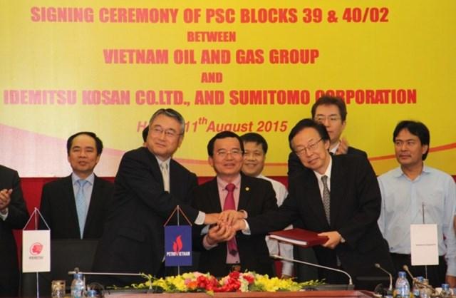 PVN ký hợp đồng phân chia sản phẩm dầu khí thềm lục địa Tây Nam Bộ
