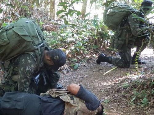 quan doi trung quoc nho brazil luyen ky nang chien dau trong rung - anh 2binh si thuoc bo chi huy quan su amazon dang tap tran trong rung - anh: defense news