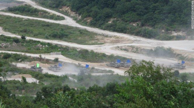 Hàn Quốc tập trận đạn thật lớn nhất từ trước đến nay