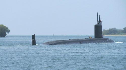 Tàu ngầm Mỹ diễn tập theo dấu tàu ngầm Trung Quốc