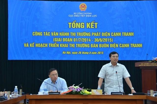 Thứ trưởng Hoàng Quốc Vượng: Thận trọng vận hành thị trường bán buôn điện