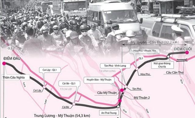 """Bộ GTVT """"dọa"""" thay BQL dự án Trung Lương – Mỹ Thuận"""