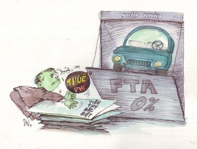 """Ma trận thuế, phí ôtô con: """"Trăm dâu"""" đổ đầu... người dùng"""